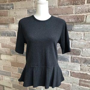 Gap Women's Knit Top Short Sleeve Size L Gray NWT